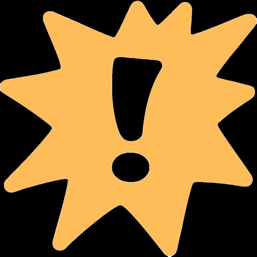 Ausrufezeichen gelb transparent