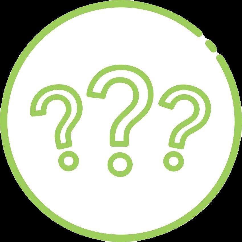 Fragezeichen grün-weiß 850 transparent