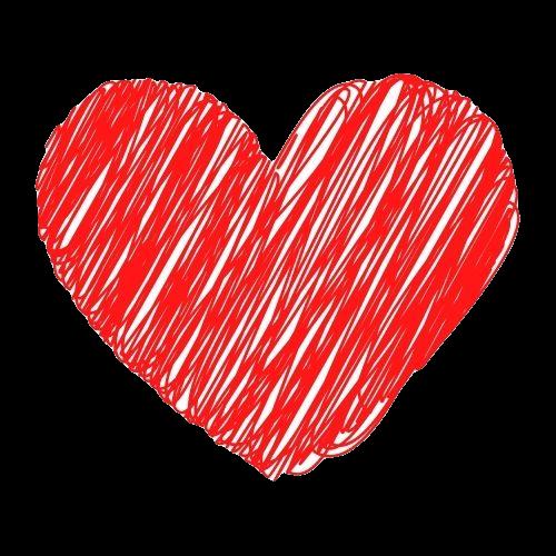 rotes Herz gemalt