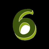 sechs grün transparent