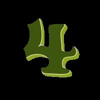 vier grün transparent